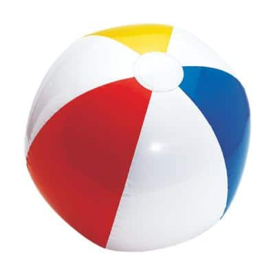 Summer Primary Color 13 in. Inflatable Beach Ball (9-Pack)