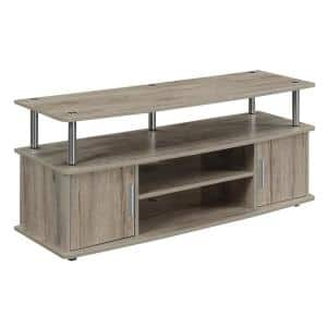 Monterey 47 in. Sandstone Particle Board TV Stand Fits TVs Up to 50 in. with Storage Doors