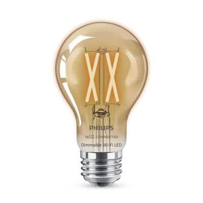 Amber A19 LED 40W Equivalent Dimmable Smart Wi-Fi Wiz Connected Wireless Light Bulb
