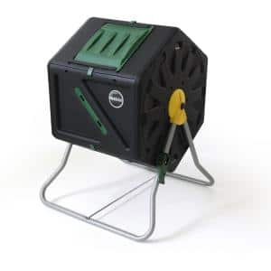 Miracle-Gro 28 Gal. Tumbling Garden Waste Soil Composter with Hand Tool Kit