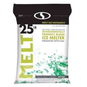 Melt 25 lb. Re-Sealable Bag Premium Environmentally Friendly Blend Ice Melter with CMA