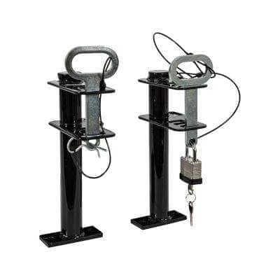 Lockable Trimmer Rack, Single Place with Padlock