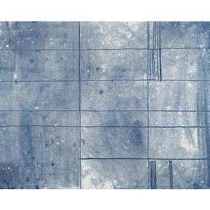 Panes Blue Wall Mural
