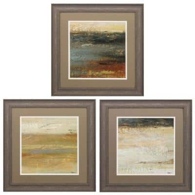 """19 in. x 19 in. """"Siena Abstract PK/3"""" Framed Wall Art"""