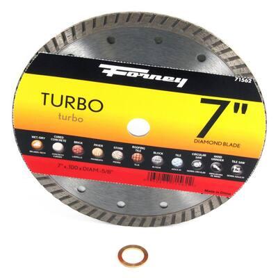 7 in. Turbo Continuous Rim Diamond Cut-Off Blade