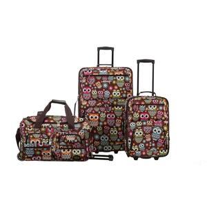 Vara Expandable 3-Piece Softside Luggage Set, Owl