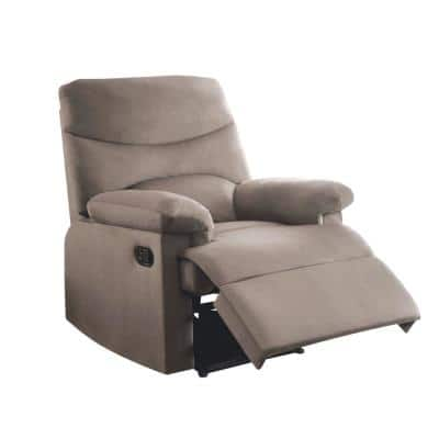 Arcadia Light Brown Woven Fabric Recliner
