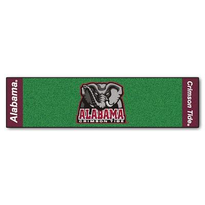 NCAA University of Alabama 1 ft. 6 in. x 6 ft. Indoor 1-Hole Golf Practice Putting Green