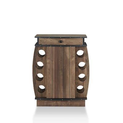 Camby Reclaimed Oak 8-Bottle Wine Cabinet