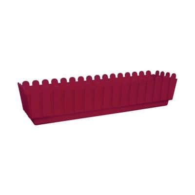 Fence 27 in. X 6 in. Bordeux Plastic Planter