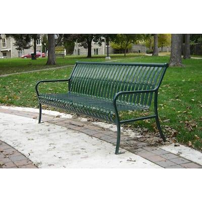 6 ft. Green Premier Bench