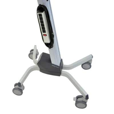 17.5 in. Gray Neo-Flex Adjustable Laptop Desk Cart for Mobile Computing