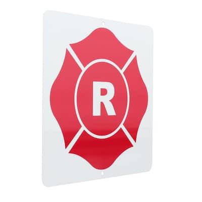 9 in. x 9 in. Roof Truss Aluminum R-Sign