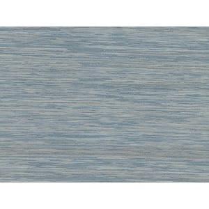 Pattaya Blue Grasscloth Blue Wallpaper Sample