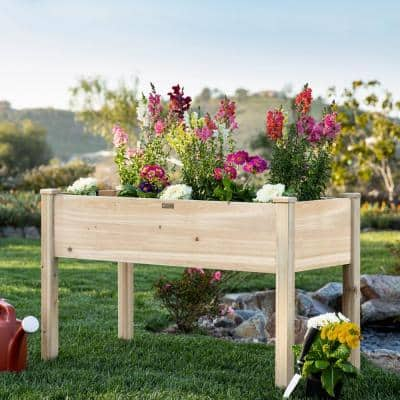 48 in. x 24 in. x 30 in. Wood Raised Garden Bed