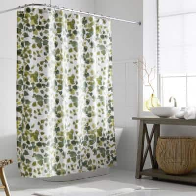Legends Hotel Greenery Cotton and TENCEL Lyocell 72 in. Multi-Colored Shower Curtain