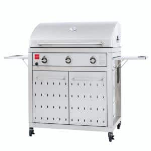 Premium 3-Burner Natural Gas Grill in 304 Stainless Steel