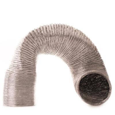 4 in. x 8 ft. Flexible Semi-Rigid Space Saving Expanding Duct