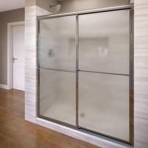 Deluxe 56 in. x 68 in. Framed Sliding Shower Door in Chrome