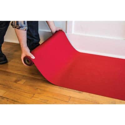 Reusable Red Neoprene 27 in. x 20 ft. Stair Runner