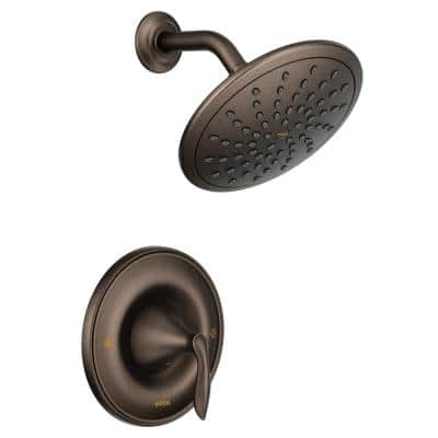 Eva Posi-Temp Rain Shower Single-Handle Shower Only Faucet Trim Kit in Oil Rubbed Bronze (Valve Not Included)