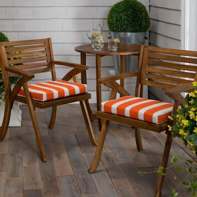 Lateral Marmalade Orange Rectangular Outdoor Seat Cushion (2-Pack)