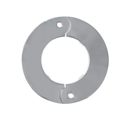 1-1/2 in. Iron Pipe Size Split Flange Escutcheon Plate in Chrome-Plated Steel