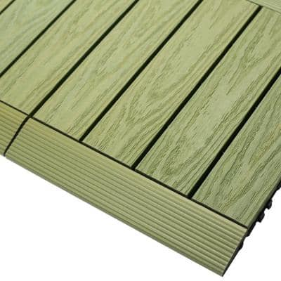 1/6 ft. x 1 ft. Quick Deck Composite Deck Tile Straight Fascia in Irish Green (4-Pieces/Box)