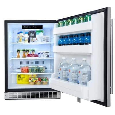 Professional 5.5 cu. ft. Mini Fridge in Stainless Steel