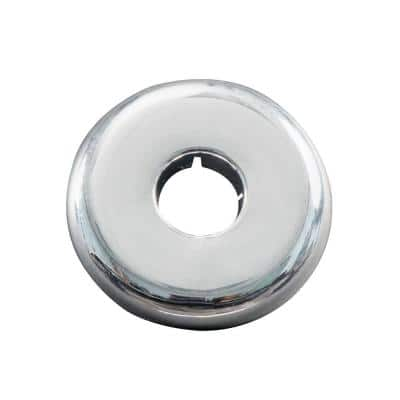 1/2 in. Iron Pipe Size Flange Escutcheon Plate in Chrome-Plated Plastic