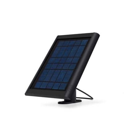 Solar Panel for Spotlight Cam Battery and Stick Up Cam, Black