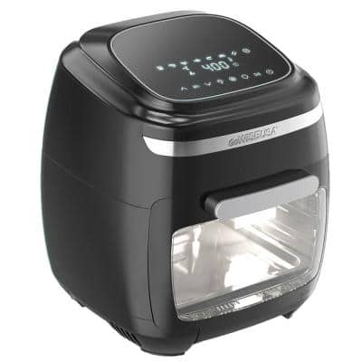 1700-Watts 11.6 Qt. Multi Vibe Black Air Fryer Oven with Rotisserie and Dehydrator Features + 11 Accessories