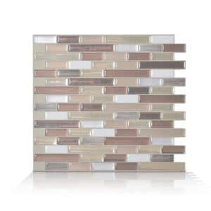 Muretto Durango Beige 10.20 in. W x 9.10 in. H Peel and Stick Self-Adhesive Decorative Mosaic Wall Tile Backsplash