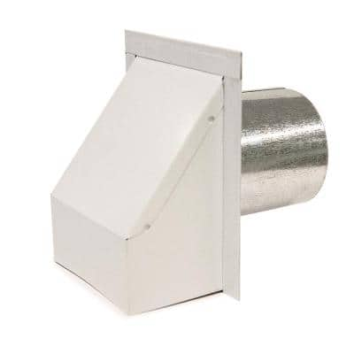 4 in. Round Heavy-Duty Wall Vent with Damper in White