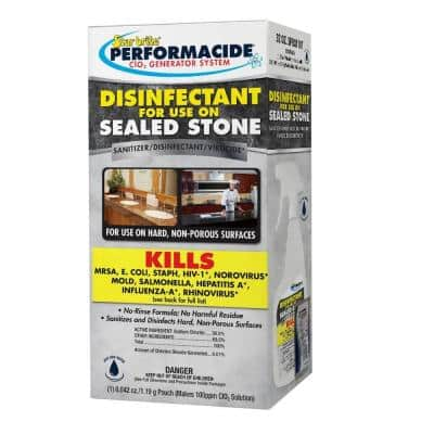 Performacide 32 oz. Disinfectant Spray Kit for Use on Sealed Stone