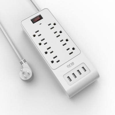 8 Outlet/4 USB Surge Protection Strip by One Power