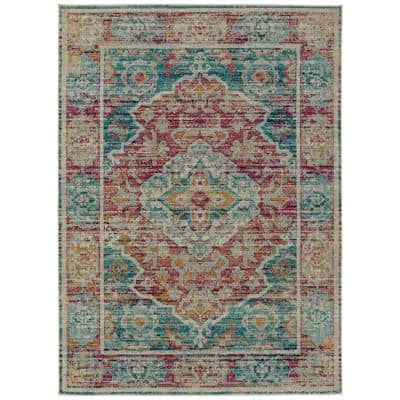 Kaleen Zuma Beach Collection Multi 2 Ft X 3 Ft Rectangle Indoor Outdoor Area Rug Zum10 86 23 The Home Depot