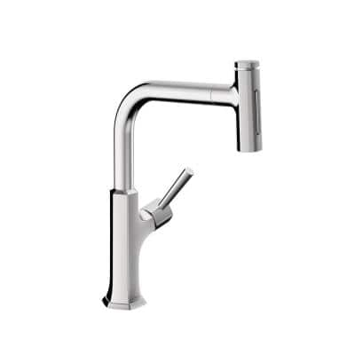 Locarno Single-Handle Pull-Out Sprayer Kitchen Faucet in Chrome