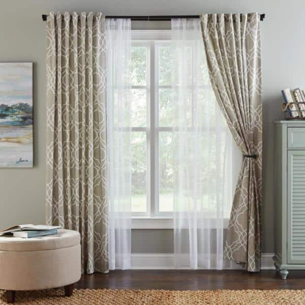 Double Curtain Rod Bracket, Double Curtains For Living Room