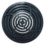 8 in. Round Black Drainage Grate
