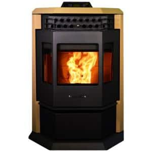 2,800 sq. ft. EPA Certified Pellet Stove with 55 lbs. Hopper and Auto Ignition in Apricot