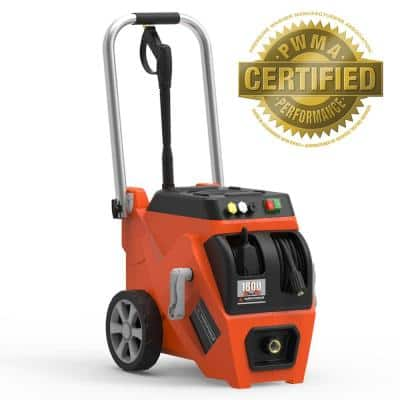 1800 PSI 1.2 GPM Electric Pressure Washer with Live Hose Reel and Turbo Nozzle