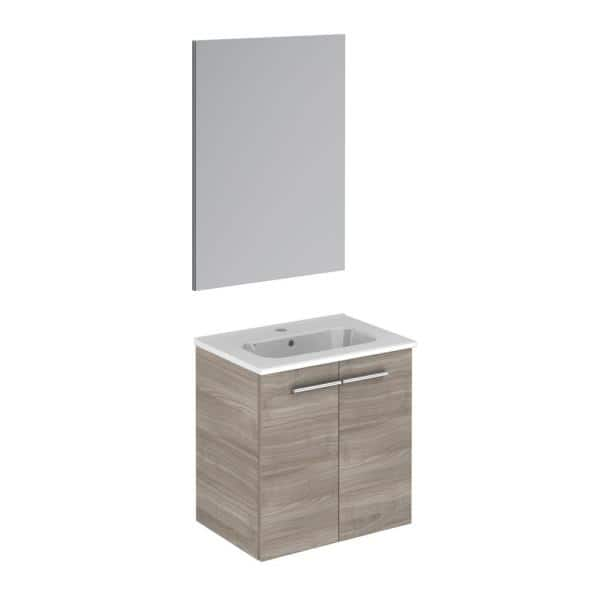 Ws Bath Collections Start 19 5 In W X 13 8 In D X 20 4 In H Complete Bathroom Vanity Unit In Sandy Grey With Mirror Start 50 Pack Sg The Home Depot