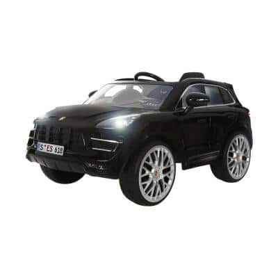 Porsche Macan with Radio Control 6-Volt Battery Ride-On Vehicle in Black