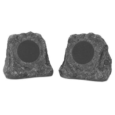 Pair of Wireless Waterproof Rechargeable Bluetooth Outdoor Rock Speakers
