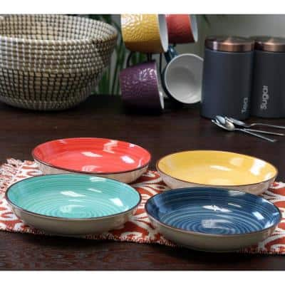 Color Speckle Assorted Color Bowls (Set of 4)