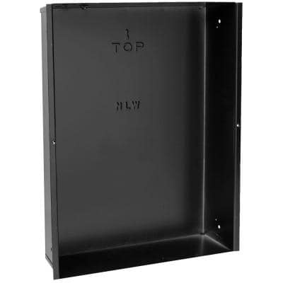 NLW Series 14-1/4 in. W x 19-1/4 in. H x 4 in. D Recess Mount Wall Can Only Black