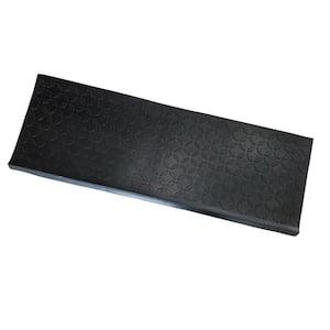 Diamond Black 10 in. W x 29 in. L Non-Slip Rubber Stair Tread Cover (6 Pack)