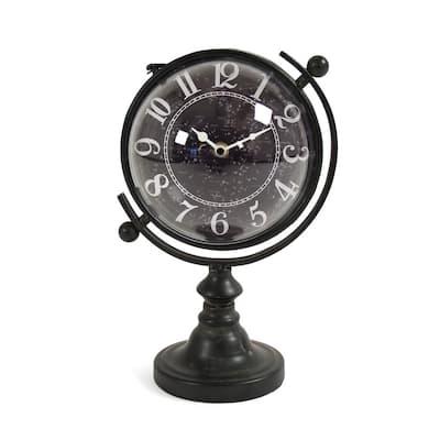 Constellation Designed Rotating Globe Shaped Table Clock