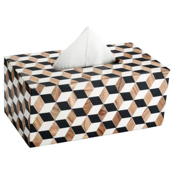 Mascot Hardware Cube Tissue Box Cover In Multicolor Tbx003 The Home Depot